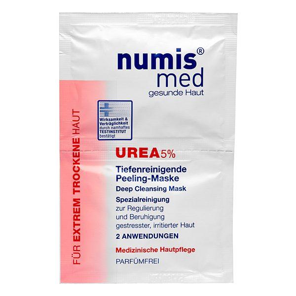 Глубоко очищающая маска для лица с 5 % мочевиной, двойное саше по 8 мл купить NumisMed при диабете с доставкой Numis Med c заказать по России и регионам