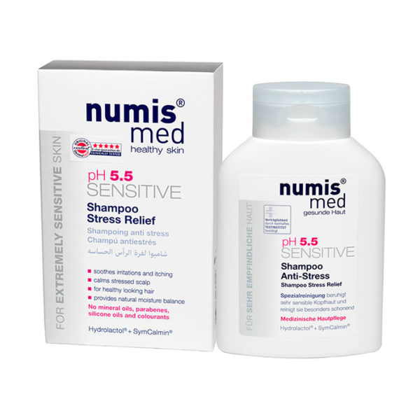 Шампунь Стресс релиф «СЕНСИТИВ рН 5,5», 200 мл Numis Med