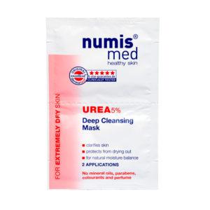 NumisMed - Глубоко очищающая маска для лица с 5% мочевиной, двойное саше по 8 мл